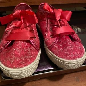 MK girl pink sneakers sz12